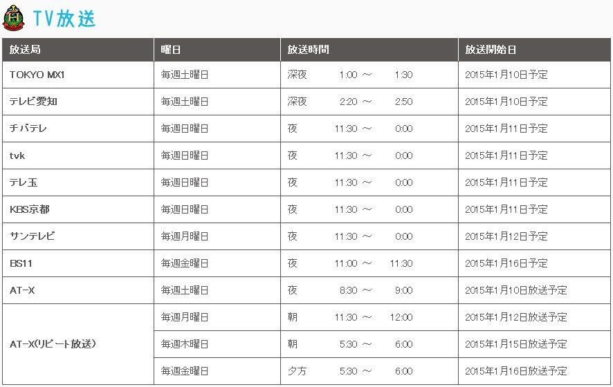 2015년 1월 신작 '소년 헐리우드' 2기 방송 일시 발표
