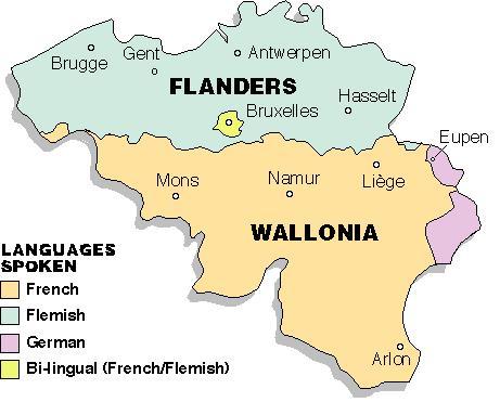 벨기에의 언어 지도