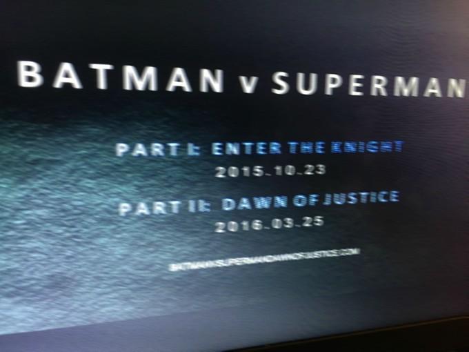 '배트맨 v 수퍼맨'이 두 개 파트로 분할될 수도 있다