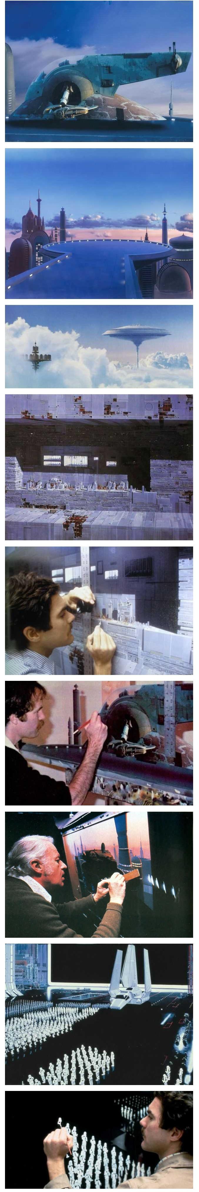 스타워즈 초기 시절의 인상적인 촬영기법