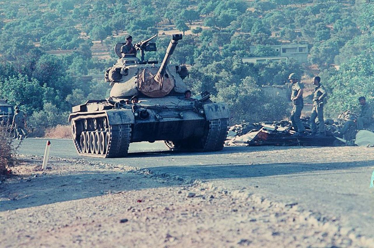 키프로스 침공에 투입된 터키군 M-47 전차