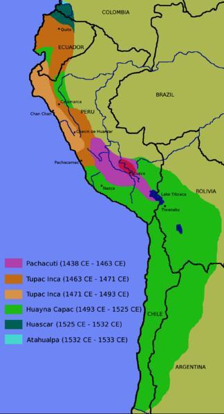 잉카 제국의 영토 팽창