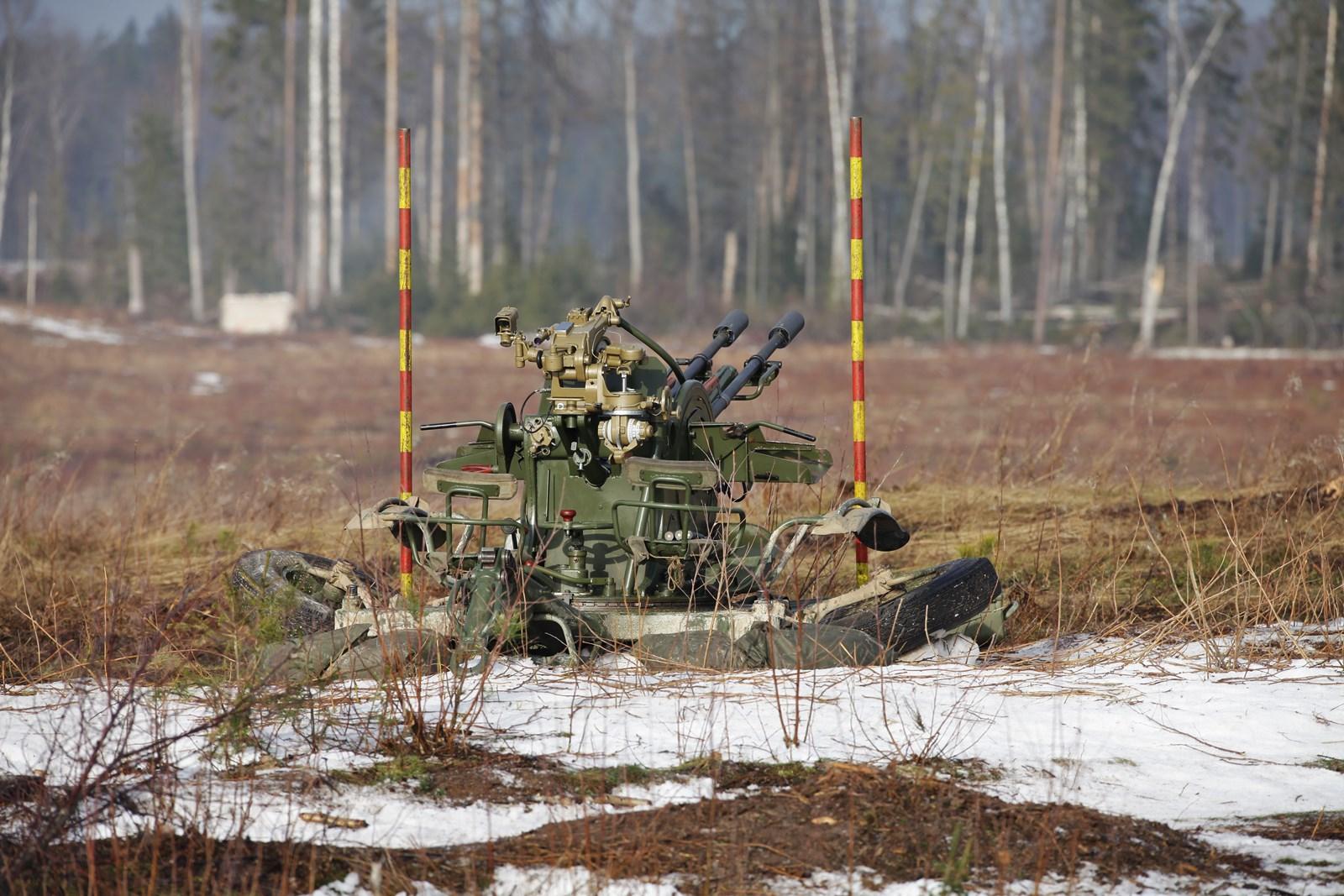에스토니아 ZU-23-2 대공포 사격훈련 (1)