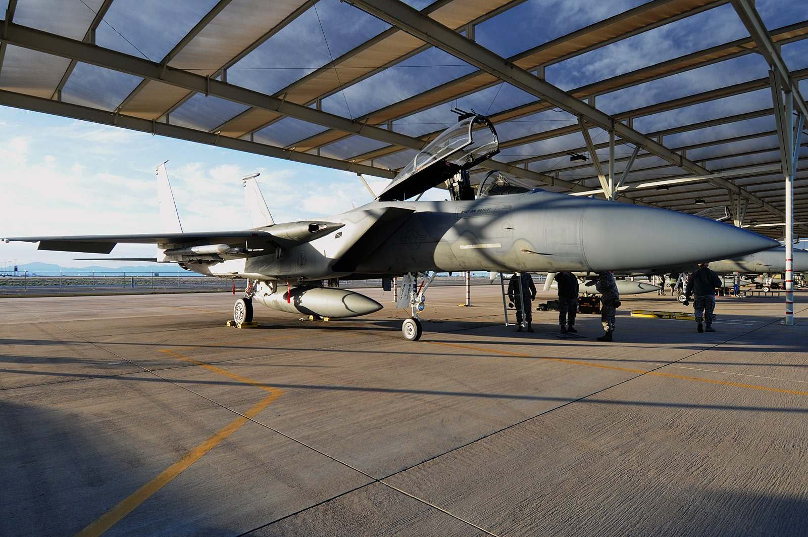 Sentry Cactus 2015 훈련참가 미공군 F-15와 F-16..