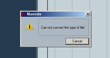 (누엔도4) Can not convert this type of file!..