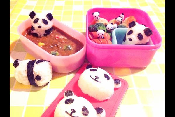 [요리] 팬더 주먹밥 도시락, 팬더 쿠키, 키티 쿠키