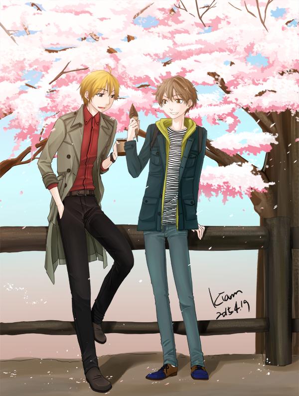 월하의 연인 번외 : 봄이니까 일러(수정)