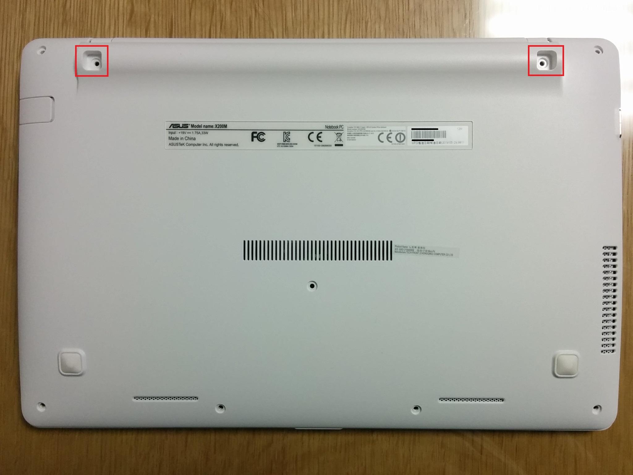 ASUS X200M SSD 장착