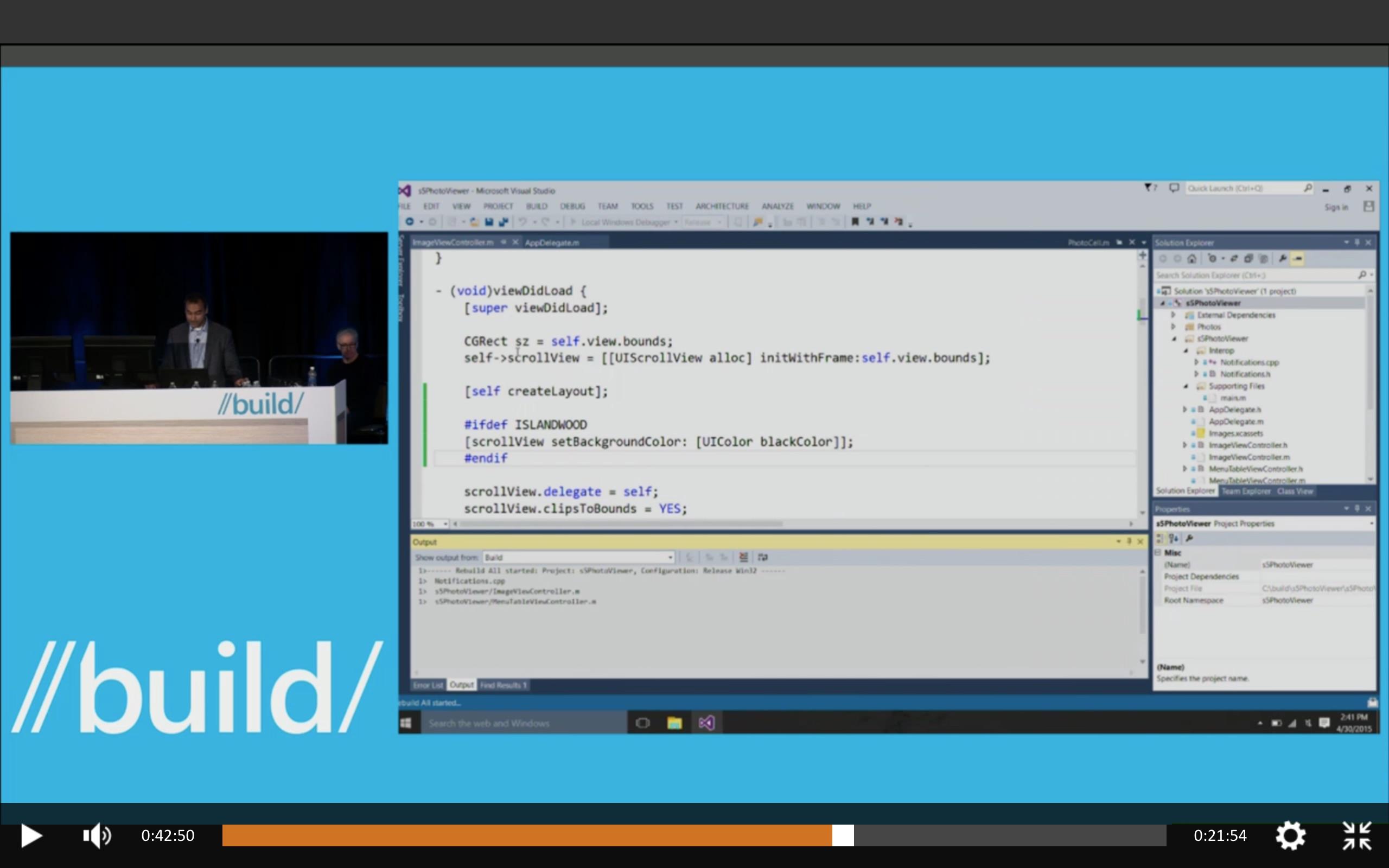 Visual Studio 2015에서 Objective-C 컴파일하는..