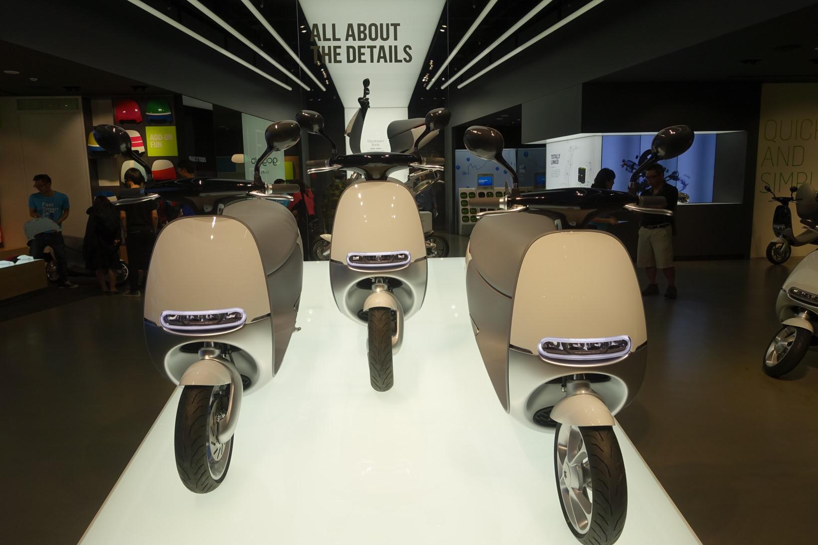 곧 판매할 예정인 대만의 전기오토바이