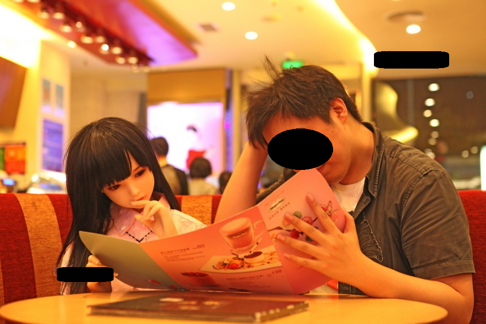 러브인형으로 새 삶을 찾은 중국인