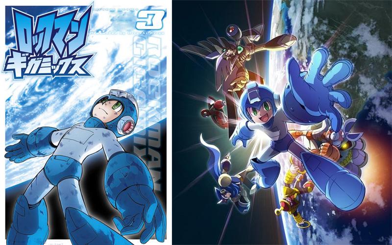 아리가 히토시氏의 신장판《록맨 기가믹스》3권!