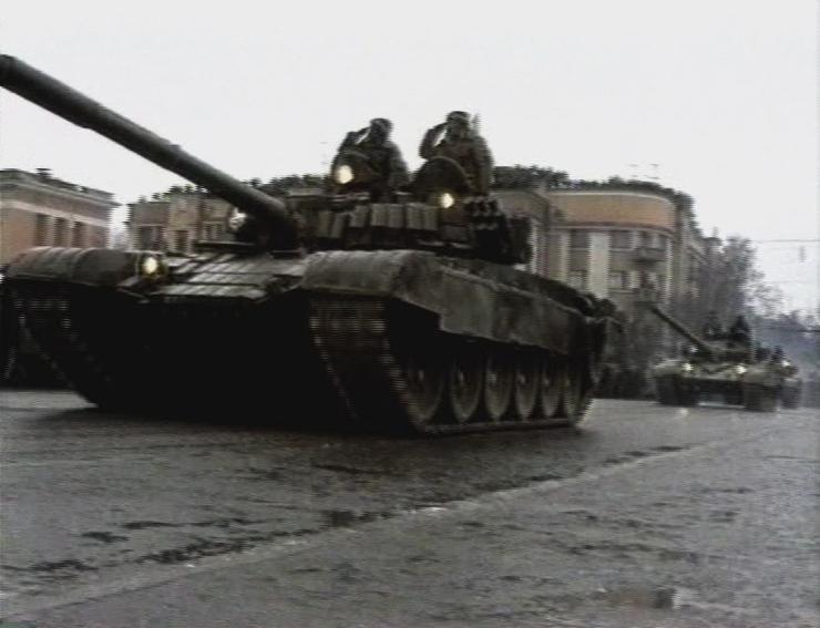 이츠케리야 체첸군 전차들