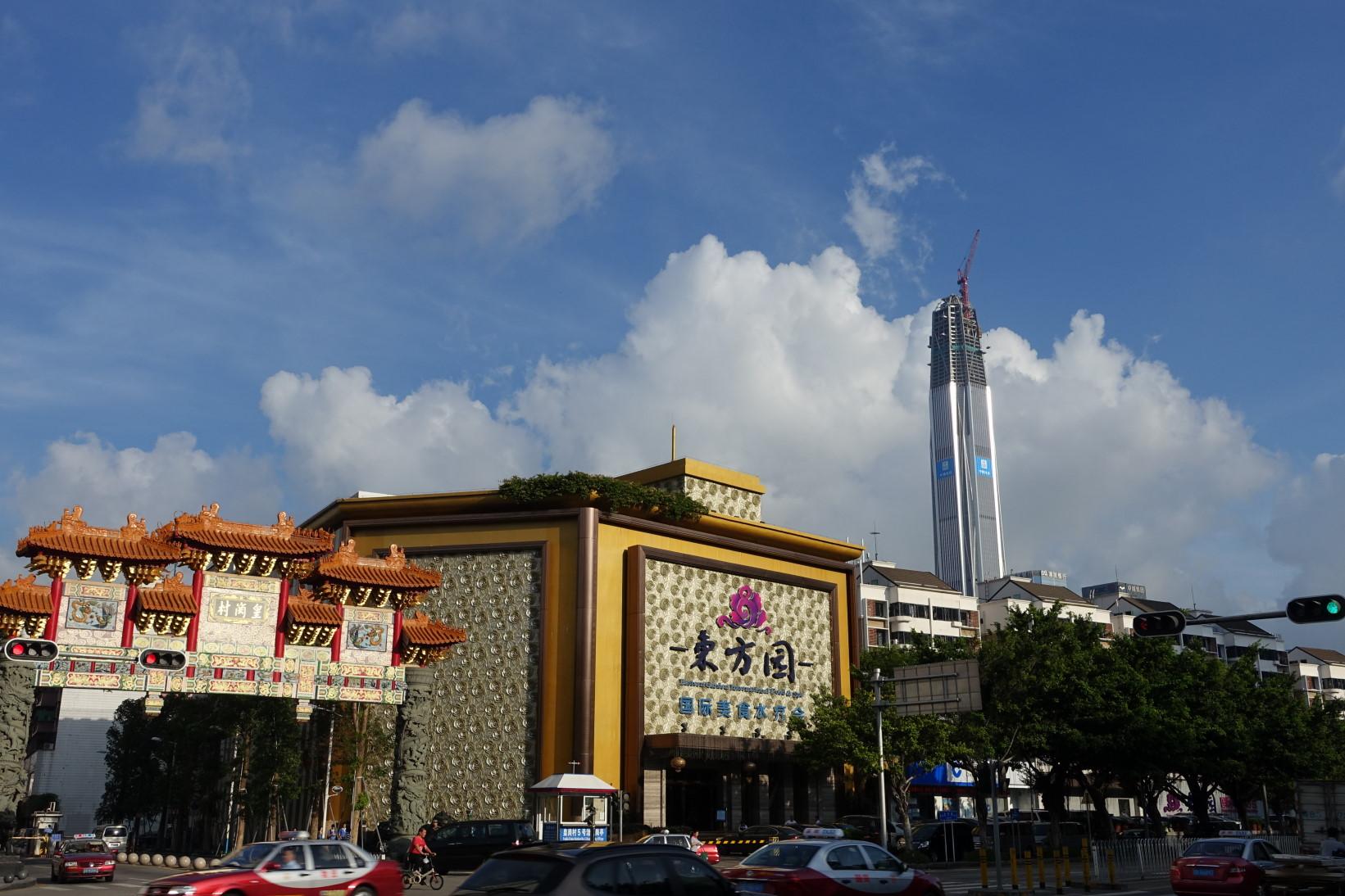 심천 120층 빌딩 건설모습