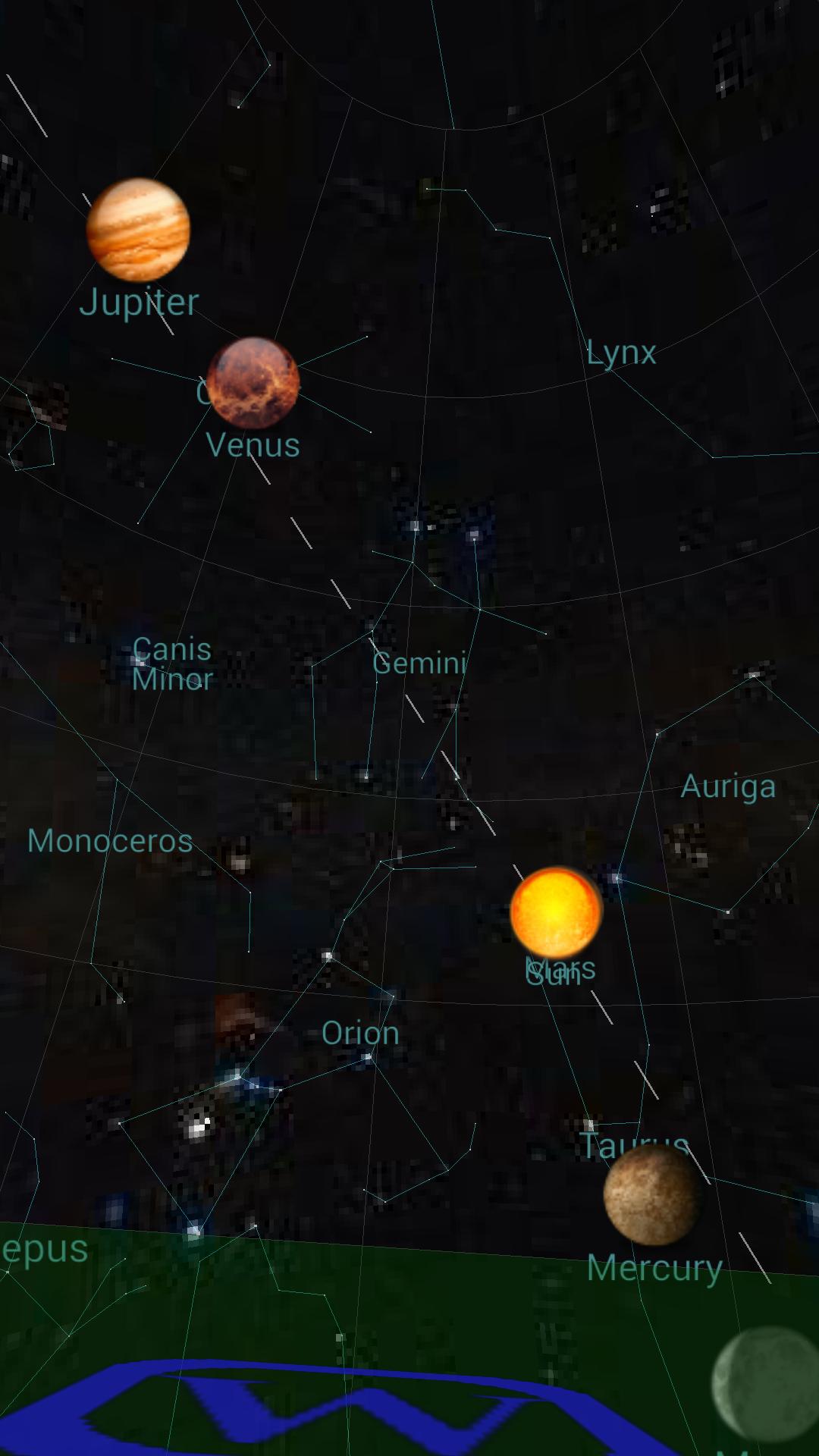 저녁 10시에도 금성 (+목성)이 보이는 시기