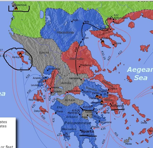 [지도]에피담노스-케르키라