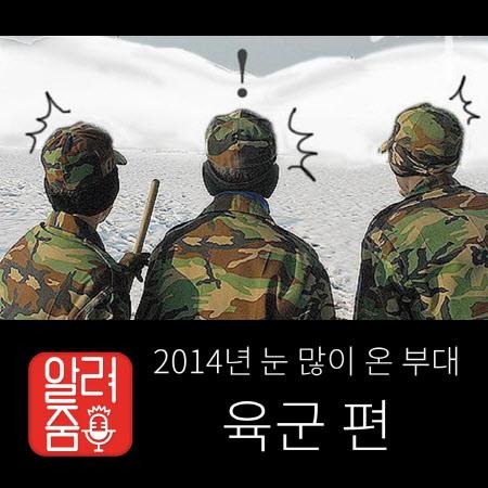 [갖가지 알려줌] 2014년 눈 많이 온 부대, 육군 편