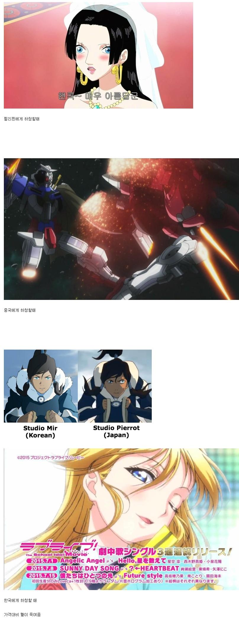 한국에 애니메이션 하청을 줄 수 밖에 없는 이유