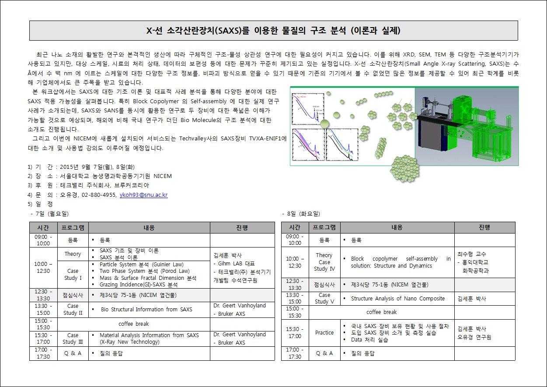 X-선 소각산란장치를 이용한 물질의 구조 분석 (..