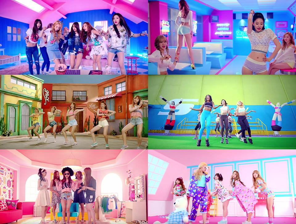걸 그룹 뮤직비디오의 답습과 반복