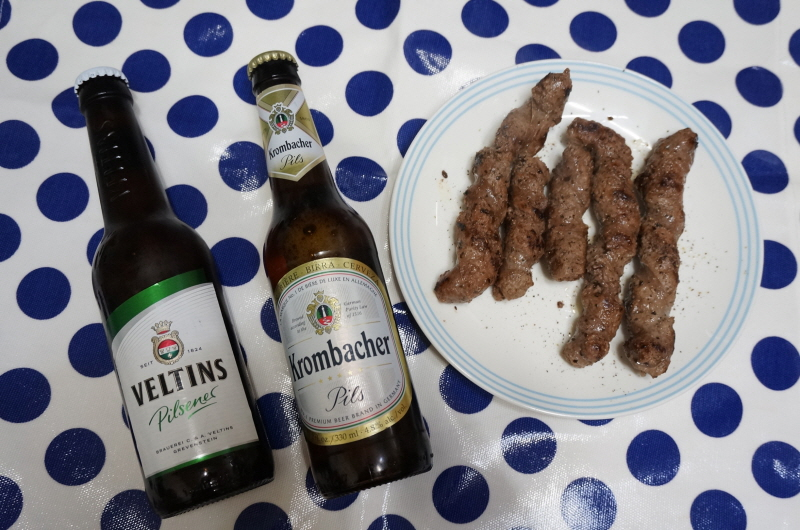 소고기소세지+맥주 (벨틴스, 크롬바커)