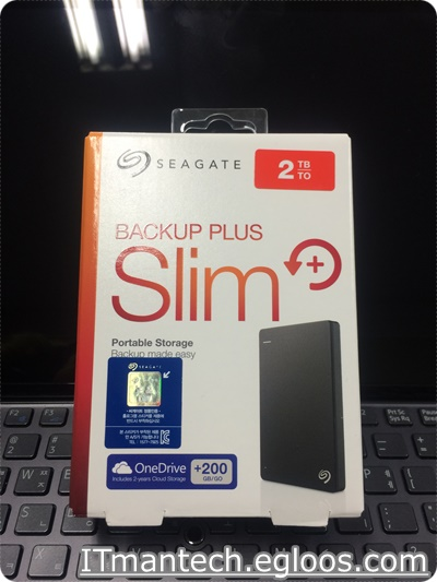 [씨게이트] BackUp Plus S Portable Drive 2TB