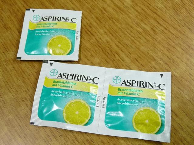 물에 녹여 마시는 아스피린