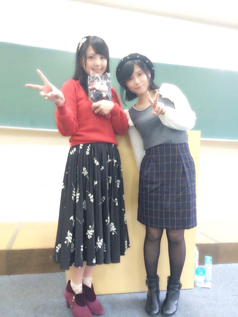 성우 미카미 시오리 & 츠다 미나미씨의 사진, 와세..