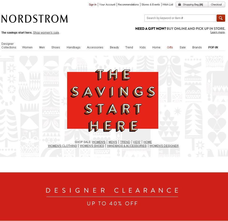 노드스트롬 Nordstrom 디자이너 클리어런스 40% ..