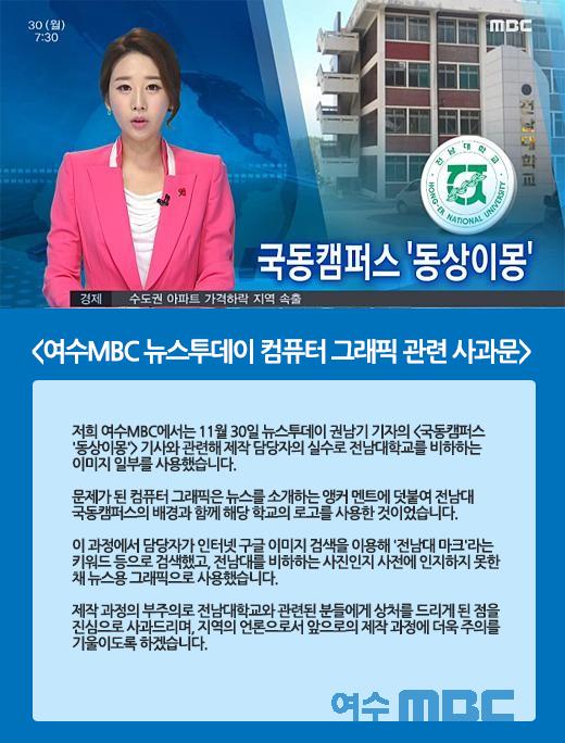 [BGM!] 여수MBC, 일베트콩에게 당하다