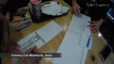Drawing Club @Starbucks, Seoul