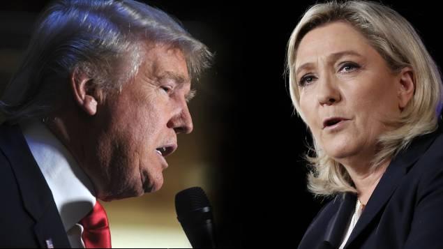 """마린 르펜,""""트럼프는 너무 극단적이다!"""""""