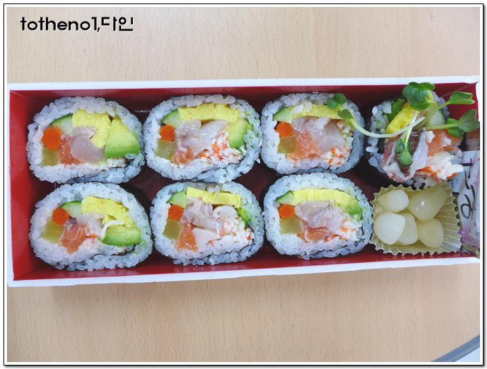 신세계백화점 식품관 생선코너의 후토마키