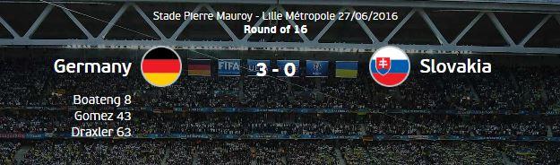 유로 2016 16강 독일 vs 슬로바키아