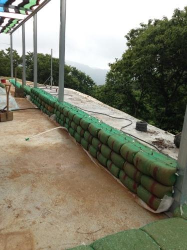 흙부대 쌓기 (1)