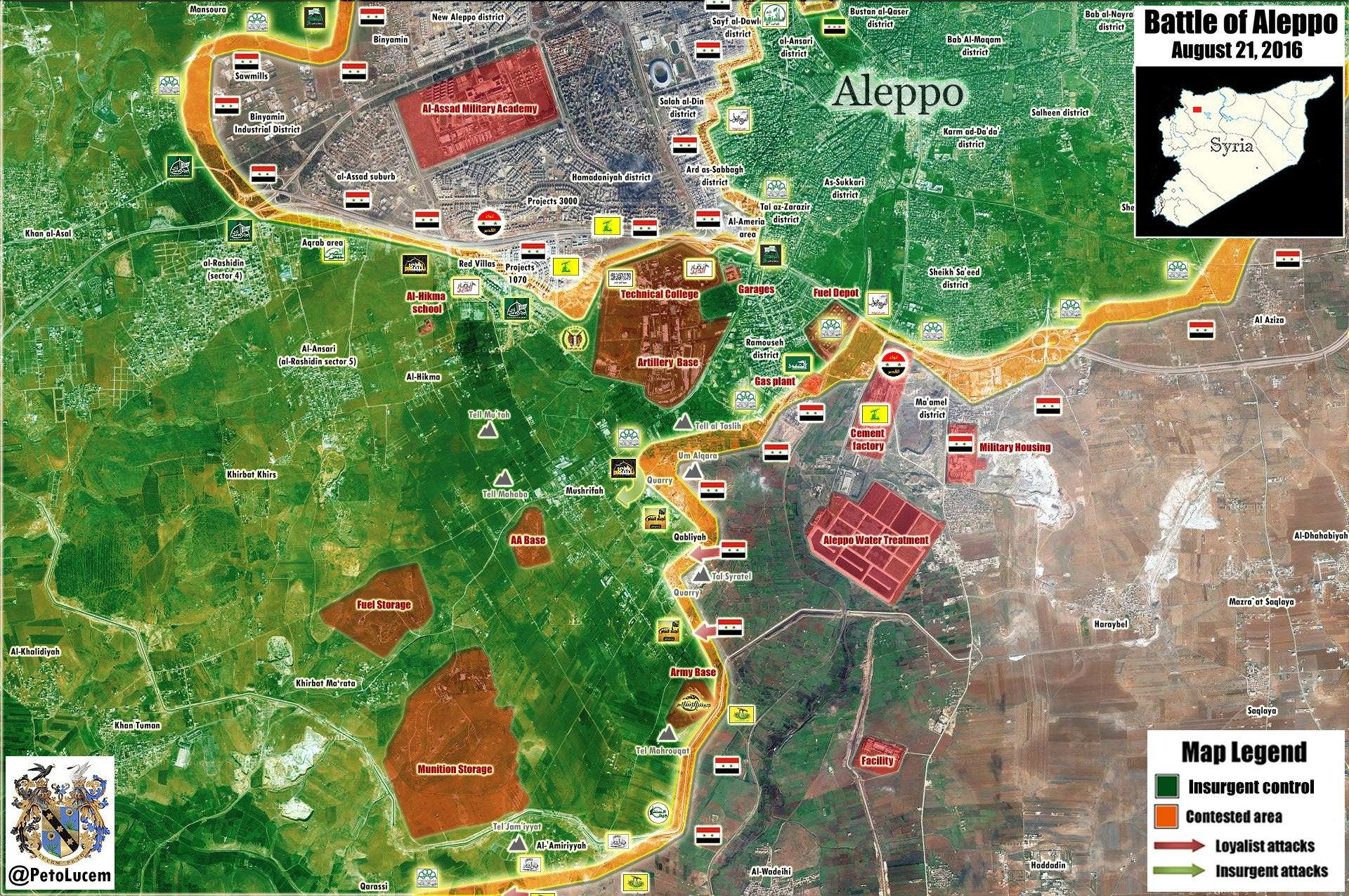 알레포 남부 국제 테러리즘과의 대결전