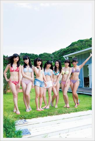 'SUPER☆GiRLS' 그라비아에서 맴버 14인이 수영복..