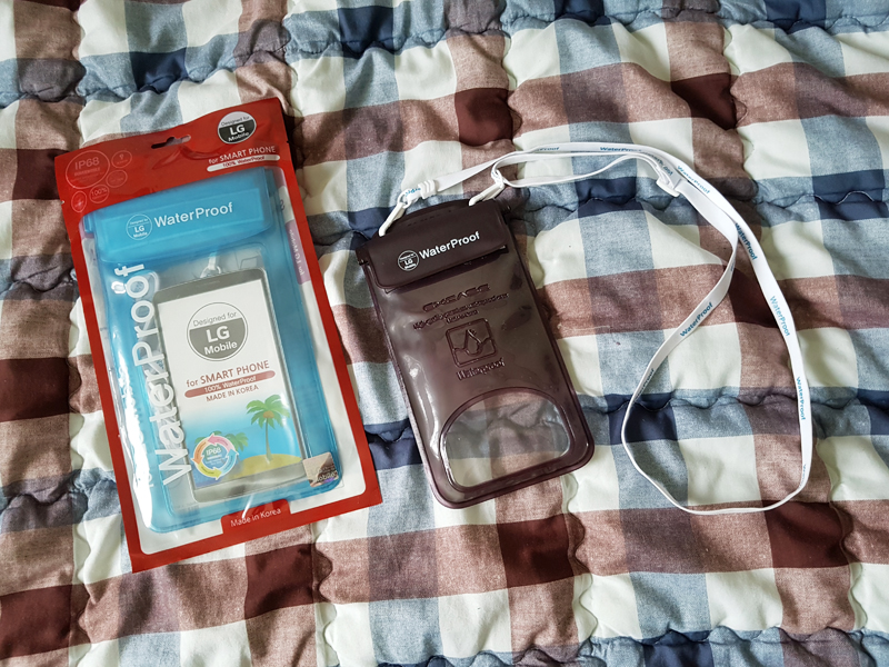 필리핀 세부 리조트에서 스마트폰 방수팩 사용기