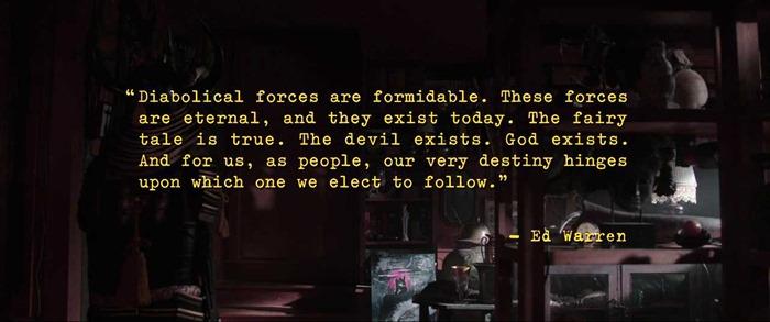 영화 `컨저링(Conjuring)` 마지막 장면 문구