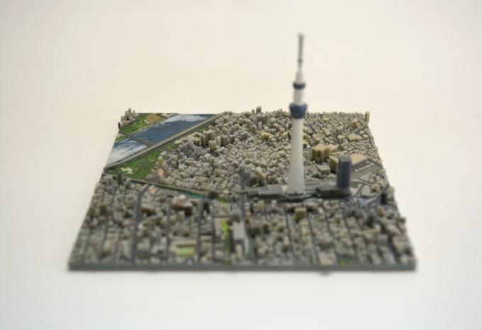 3D 프린터를 이용하여 일본 도쿄를 100개의 조각으로..