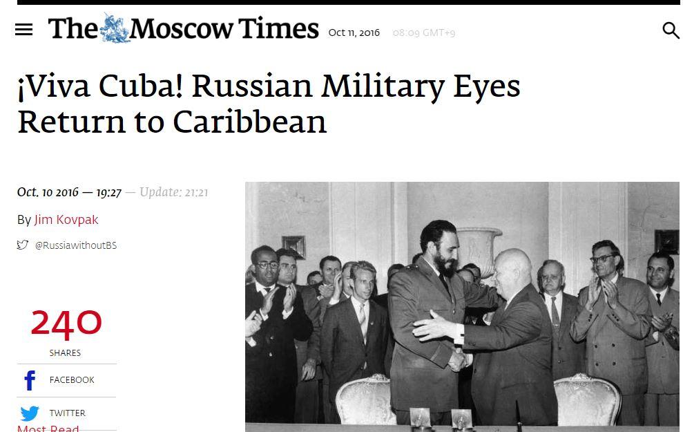 """[러시아] """"쿠바로 돌아갈 것이다?"""""""