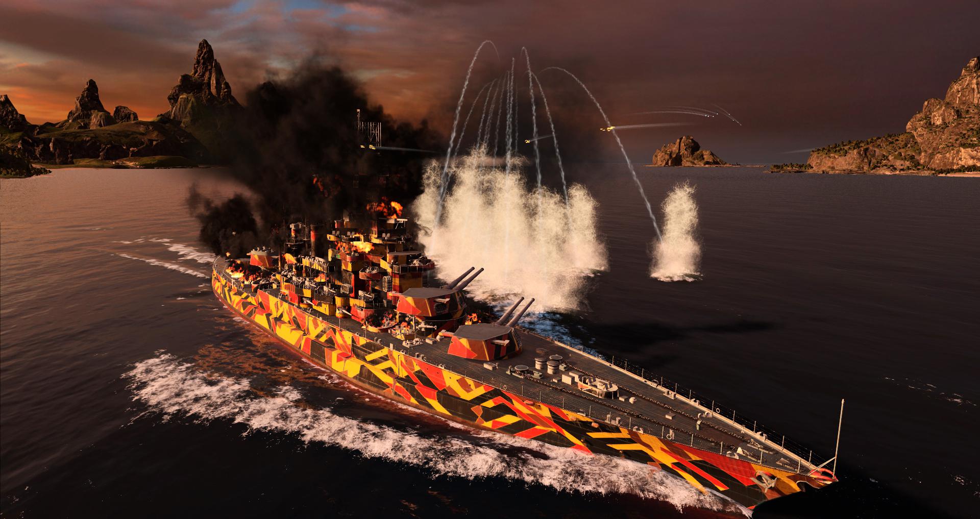[WOWs] USS 콜로라도 : 방염(Fireproof)