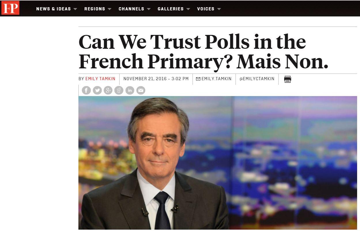 [프랑스]선거 여론조사를 믿을 수 없는 시대인가?