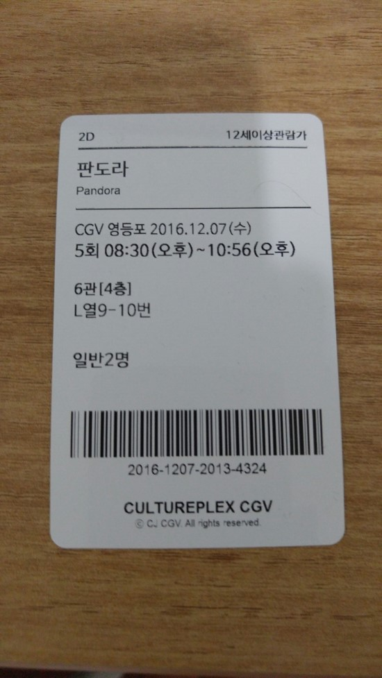 [영등포 CGV] 판도라 후기 스포없음