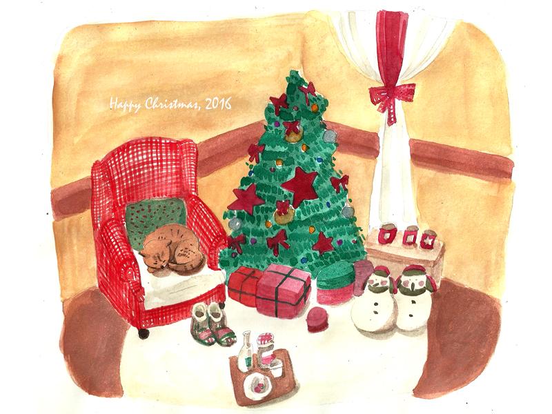 고양이와 크리스마스 이브