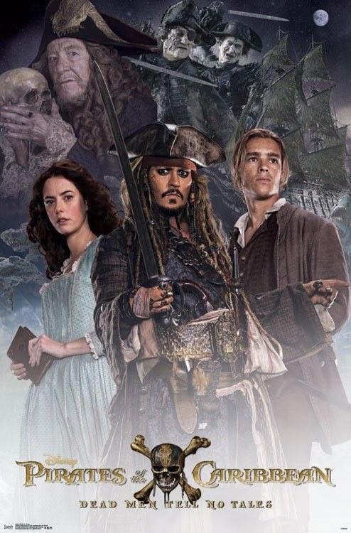 """""""캐리비안의 해적 : 죽은 자는 말이 없다"""" 포스터들.."""