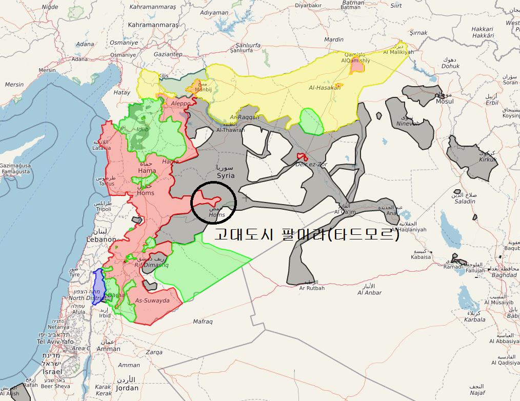 시리아 정부군 팔미라 재탈환