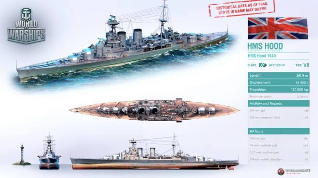 [WOWs] HMS 후드 등판(?)