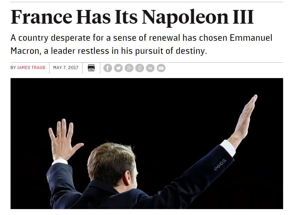 [프랑스]마크롱,나폴레옹인가,나폴레옹 3세인가?
