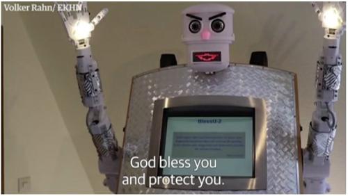이제는 하다하다 로봇 성직자도 나오는군요.